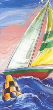 Red Sail Boat by Cruz