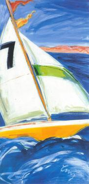 Yellow Sail Boat by Cruz