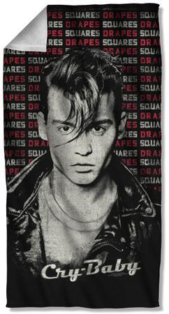 Cry Baby - Drapes & Squares Beach Towel