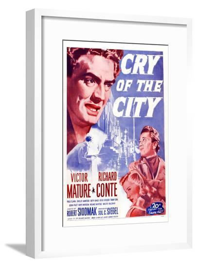 Cry of the City, Victor Mature, Richard Conte--Framed Giclee Print
