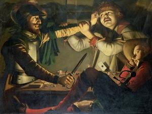 A Quarrel at a Game of Cards by Cryn Hendricksz Volmaryn