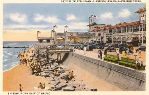 Crystal Palace, Seawall, Beach, Galveston, Texas