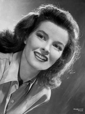 Katharine Hepburn smiling Portrait by CS Bull