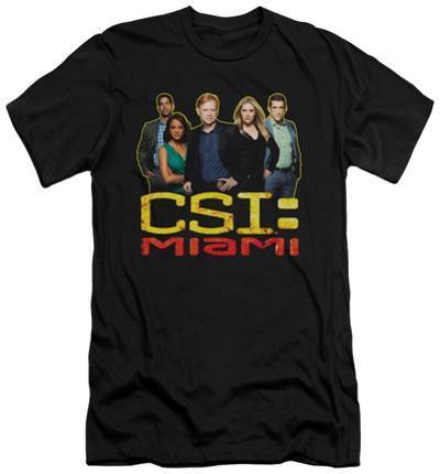 CSI Miami - The Cast In Black (slim fit)