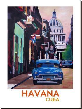 Cuban Oldtimer Street Scene In Havanna Cuba With Buena Vista Feeling Poster 2 by M Bleichner