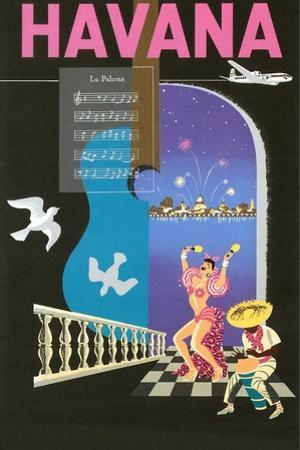 Cuban Travel Poster