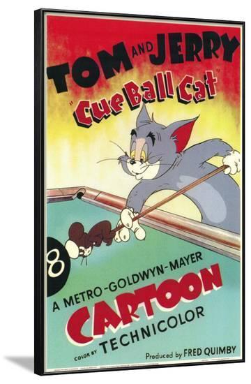 Cue Ball Cat--Framed Poster