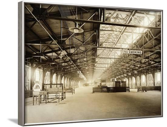 Cunard Line Pier Cleared Out for Titanicsurvivors--Framed Photographic Print