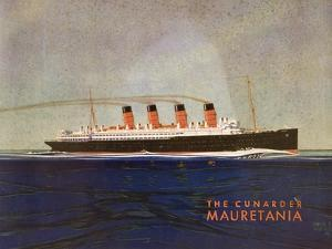 Cunard Line Promotional Brochure for 'Mauretania' C.1930