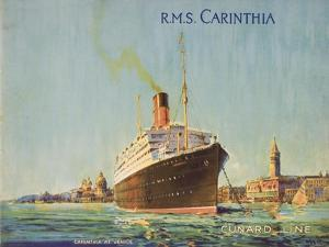 Cunard Line Promotional Brochure for R.M.S 'Carinthia' C.1926-30