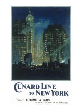 Cunard New York Poster