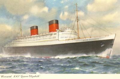 Cunard Ocean Liner RMS Queen Elizabeth