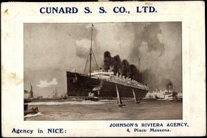Cunard S.S. Co, R.M.S Lusitania and Mauretania