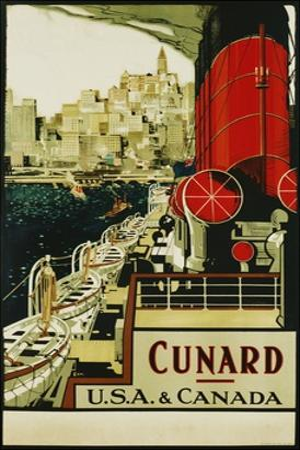 Cunard Usa and Canada Poster