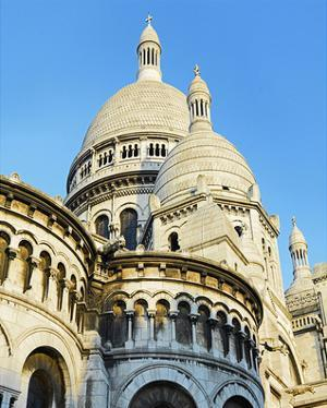 Cupolas of Sacre Coeur Basilica at Montmartre, Paris, Ile de France, France