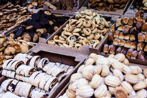 Fresh Hanukkah Cakes in the Market in Israel by Curioso Travel Photography