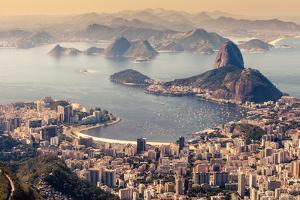 Rio De Janeiro, Brazil. Suggar Loaf and Botafogo Beach Viewed from Corcovado by Curioso Travel Photography
