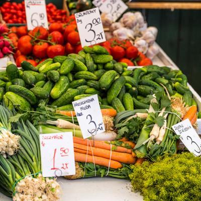 Vegetables for Sale at Local Market in Poland. by Curioso Travel Photography