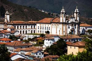 View of the Unesco World Heritage City of Ouro Preto in Minas Gerais Brazil by Curioso Travel Photography