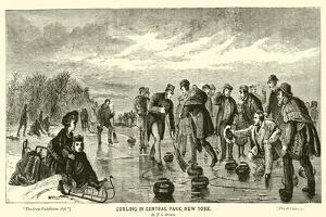 Curling in Central Park, New York, by J G Brown