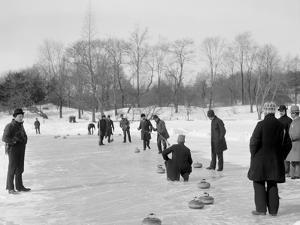 Curling in Central Park, New York