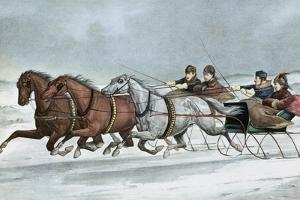 A Brush on the Snow by Currier & Ives