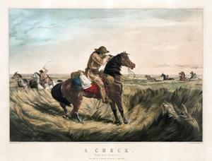 A Check - Keep Your Distance by Currier & Ives