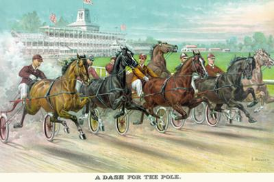A Dash for the Pole by Currier & Ives