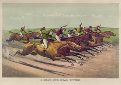 A Head and Head Finish by Currier & Ives