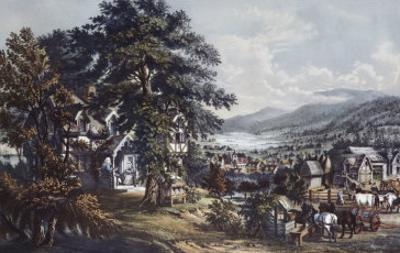 Acadian Land, Home of Evangeline by Currier & Ives