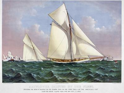 America's Cup, 1886 by Currier & Ives