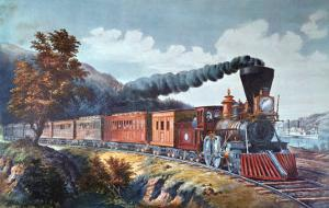 American Express Train, 1864 by Currier & Ives