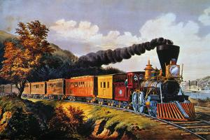 American Express Train by Currier & Ives