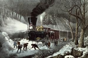 American Railroad Scene, 1871 by Currier & Ives