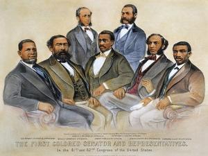 Black Senators, 1872 by Currier & Ives