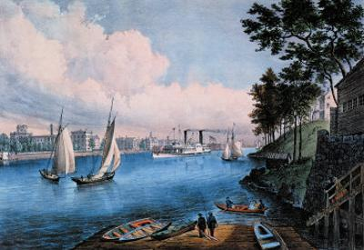 Blackwell Island by Currier & Ives