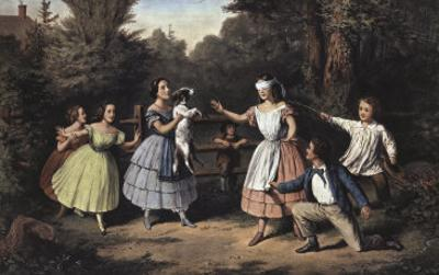 Blind Man's Buff by Currier & Ives