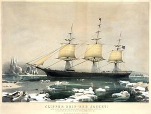 Clipper Ship Red Jacket by Currier & Ives