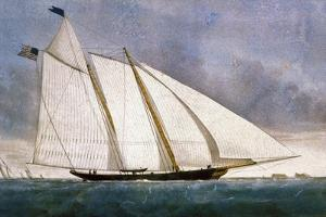 Clipper Yacht 'America' by Currier & Ives