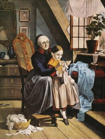 Currier and Ives: Grandmother by Currier & Ives