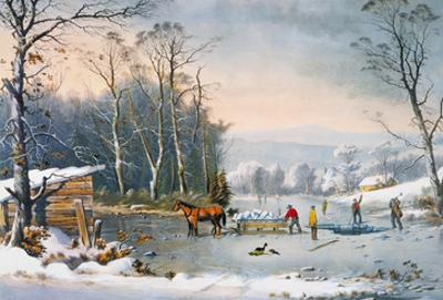 Currier & Ives Winter Scene by Currier & Ives