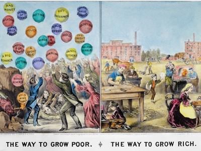 Easy Riches/Thrift, 1875 by Currier & Ives