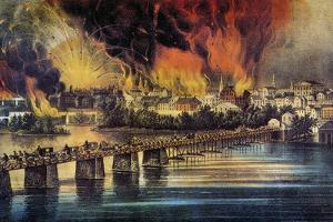 Fall Of Richmond, 1865 by Currier & Ives