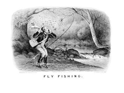 Fly Fishing by Currier & Ives