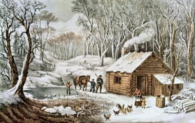 Home in the Wilderness by Currier & Ives