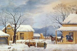 Home To Thanksgiving, 1867 by Currier & Ives