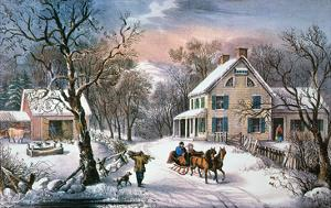 Homestead Winter, 1868 by Currier & Ives