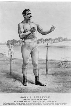John L Sullivan (1858-1918) by Currier & Ives