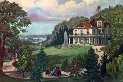 Life in the Country, Evening, 1862 by Currier & Ives