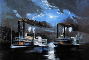 Midnight Race by Currier & Ives